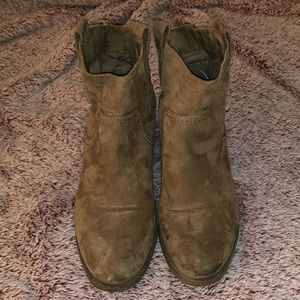 Size 11 Booties with small heel